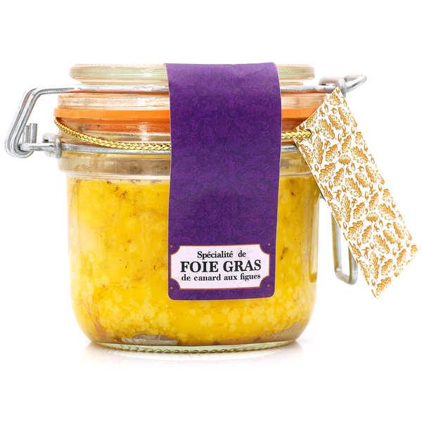 Foie gras GA BESSE Foie gras de canard entier aux figues - Bocal 180g