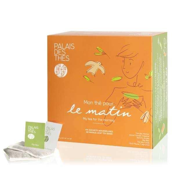 Palais des Thés Coffret - Mon thé pour le matin - 48 mousselines - coffret 48 mousselines