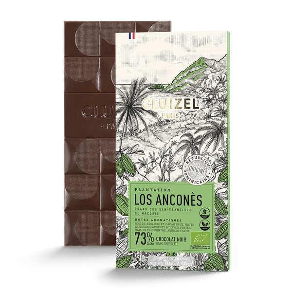 Michel Cluizel Tablette de chocolat noir de plantation - Los Anconès 67% bio - 10 tablettes de 70g