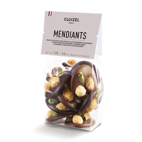 Michel Cluizel Mendiants chocolats noirs et laits Michel Cluizel - Lot de 3 poches 130g