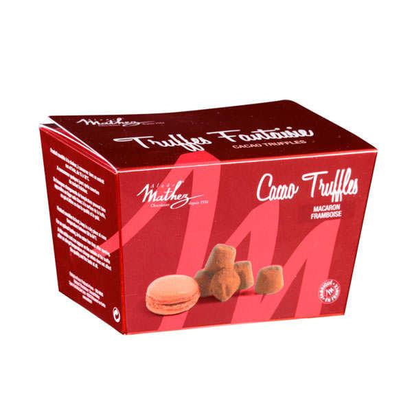 Chocolat Mathez Truffe fantaisie aux brisures de macaron framboise en ballotin - 3 mini ballotins de100g
