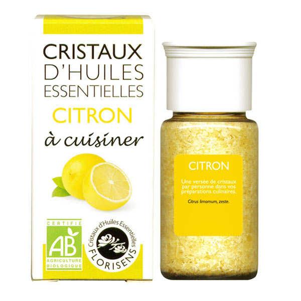 Aromandise Citron - Cristaux d'huiles essentielles à cuisiner - Bio - Flacon 10g