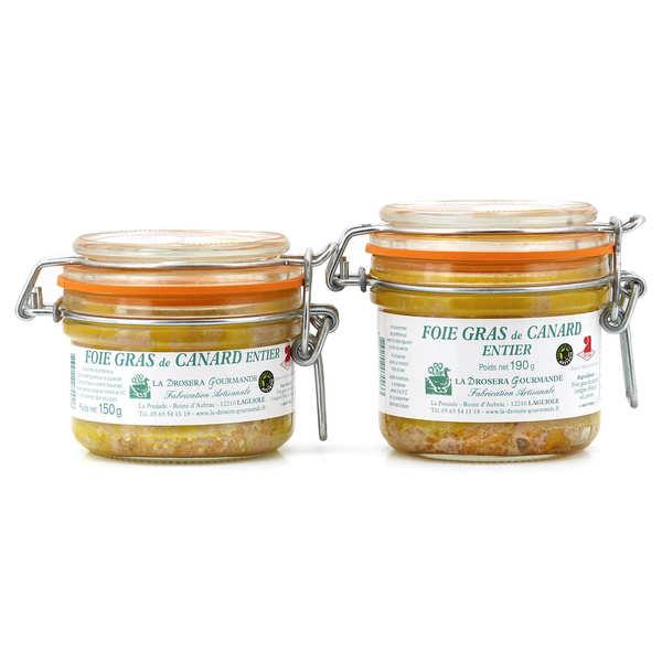 La Drosera gourmande Foie gras de canard entier de Laguiole - 3 verrines de 190g