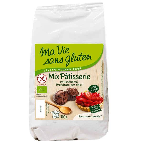 Ma vie sans gluten Mix'pâtisserie bio - mix sans gluten pour pâtisserie - Sachet 500g