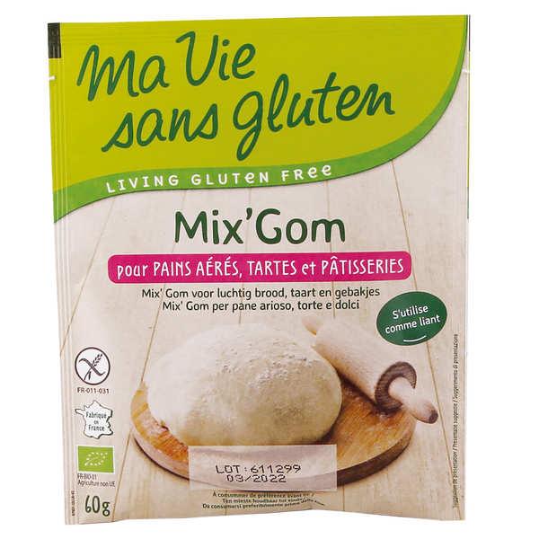 Ma vie sans gluten Mix'Gom - mix sans gluten pour préparation de pain et pâtisserie - 4 sachets de 60g