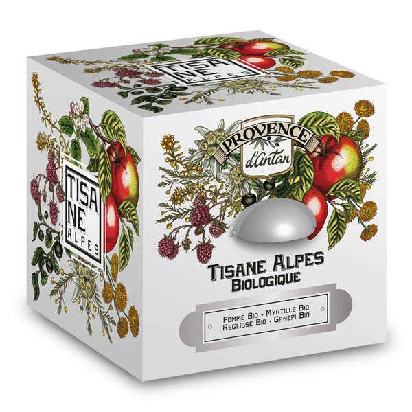 Provence d'Antan Tisane des Alpes bio - Boite métal 30 sachets mousseline