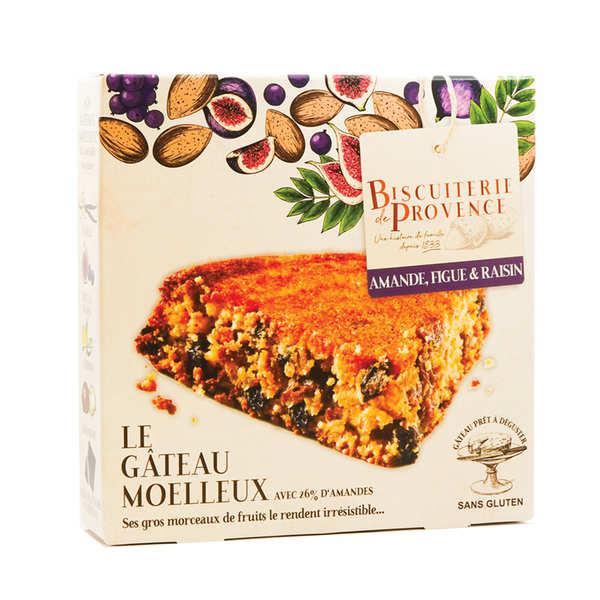 Biscuiterie de Provence Délice de l'amandier figues et raisins – gâteau sans gluten - Boite 240g