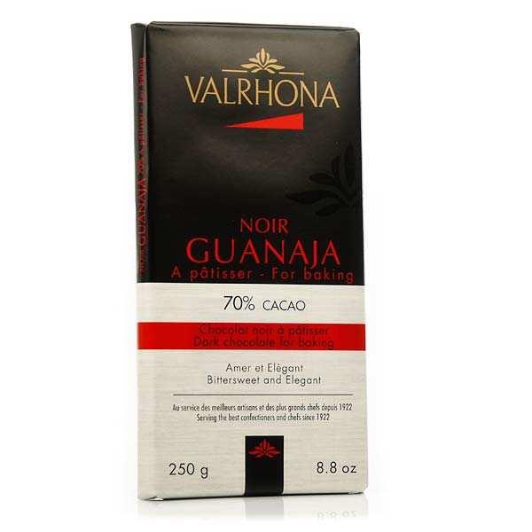 Valrhona Tablette de chocolat noir pâtissier Guanaja 70% cacao - Valrhona - 3 tablettes de 250g