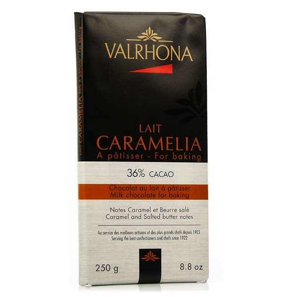 Valrhona Tablette de chocolat au lait pâtissier Caramélia 36% cacao - Valrhona - Tablette 250g