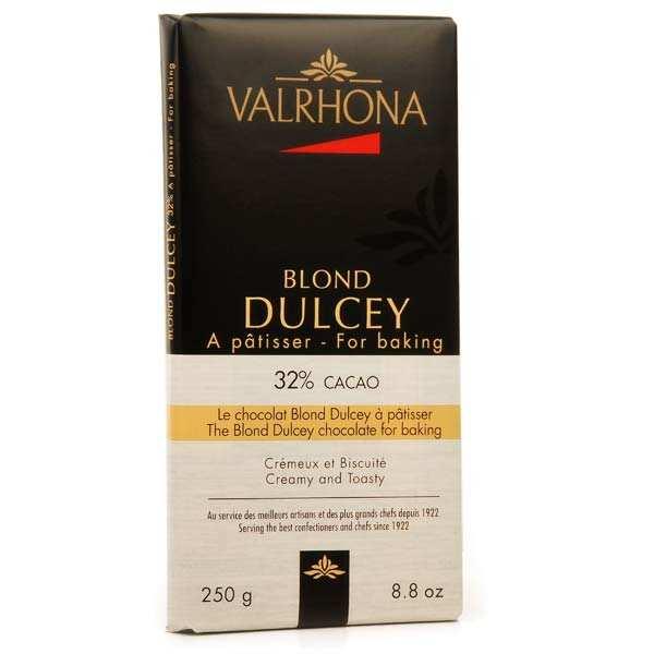 Valrhona Tablette de chocolat blond Dulcey biscuité 32% cacao - Valrhona - Tablette 250g