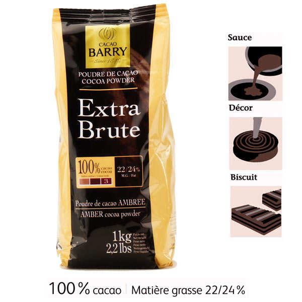 Cacao Barry Poudre de Cacao extra brute - Cacao Barry - Paquet 1kg