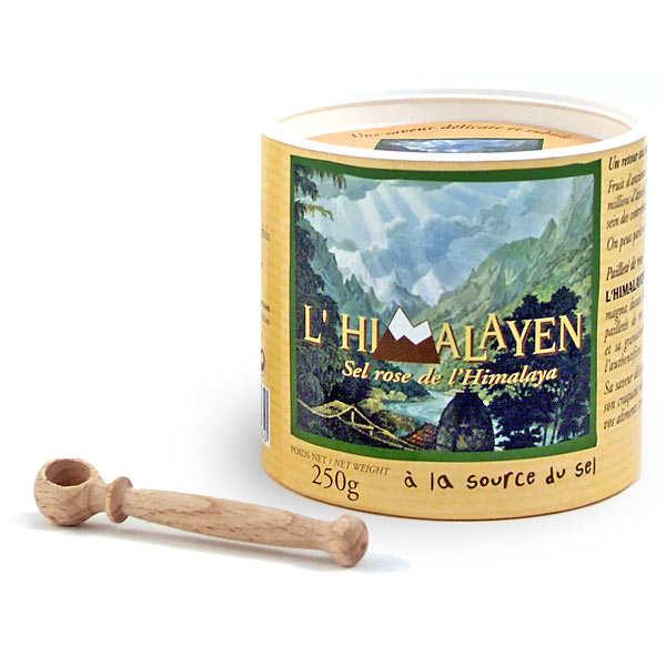 Comptoirs et Compagnies Sel rose fin de l'Himalaya (boite ronde et cuillère bois) - Lot 3 boites 250g