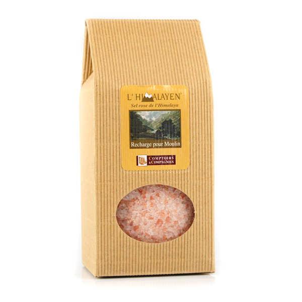 Comptoirs et Compagnies Recharge sel rose de l'Himalaya - Lot 3 sachets 1kg