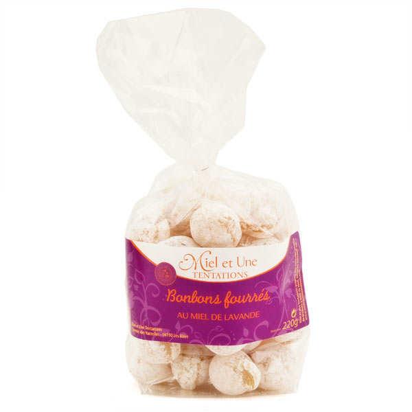 Miel et une tentations Bonbons fourrés au miel de lavande - Fabrication artisanale - Sachet 220g