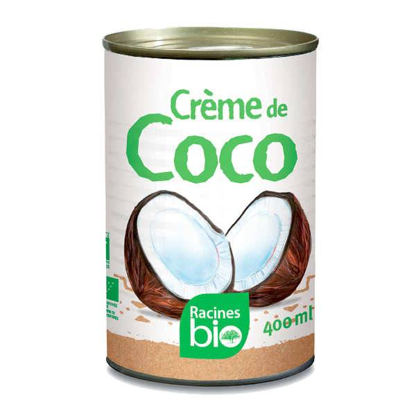 Racines Crème de coco bio - 10 boites de 400ml