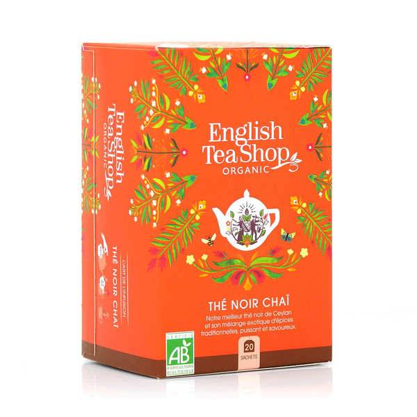 English Tea Shop Thé noir Chaï et épices de Ceylan bio en sachets - Boite 20 infusettes