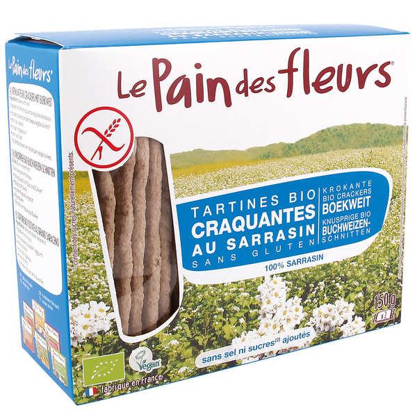 Le Pain des Fleurs au sarrasin sans sel ni sucre - sans gluten - 6 paquets de 150g