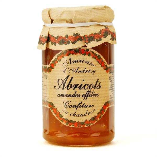 Andresy confitures Confiture extra abricot et amandes effilées au sucre de canne - Lot de 6 pots 270g