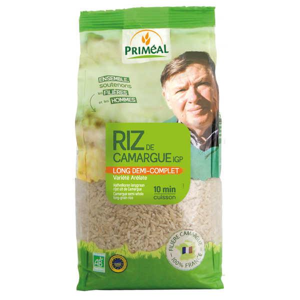 Priméal Riz long semi-complet de Camargue bio - Sachet 1kg