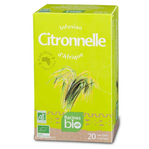 Racines Infusions d'Afrique à la citronnelle bio - boite de 20 sachets