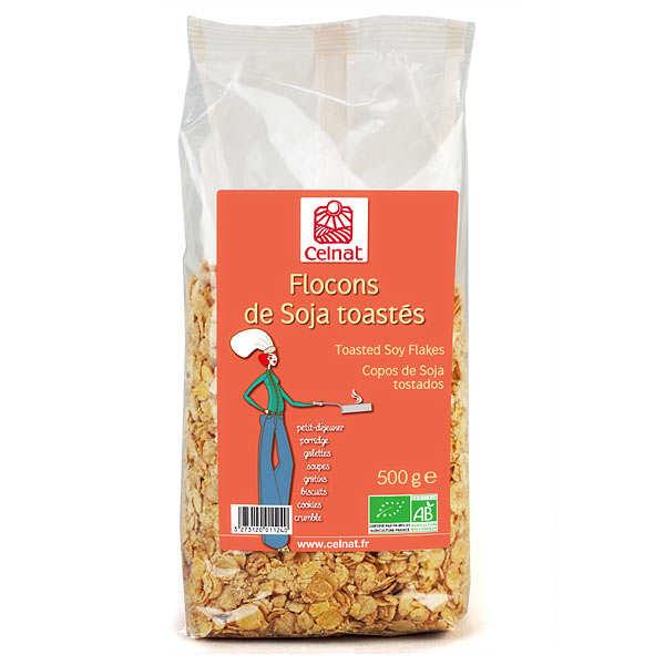 Celnat Flocons de soja toastés bio - Sachet 500g