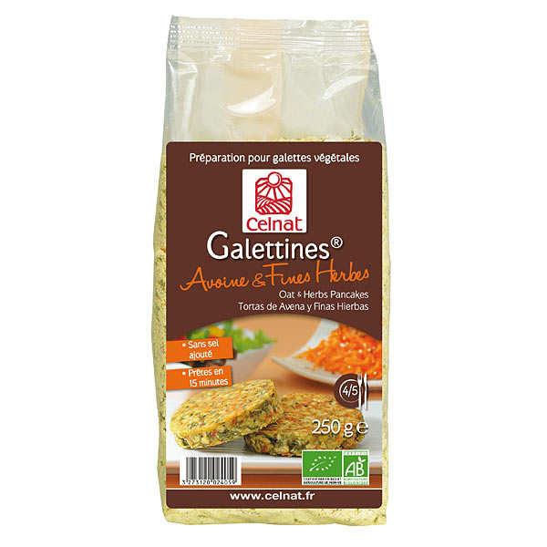 Celnat Galettines avoine & fines herbes bio - Sachet 250g