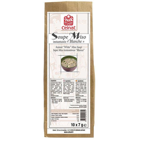 Celnat Soupe Miso instantanée blanche - 3 boîtes de 10 sachets (70g)