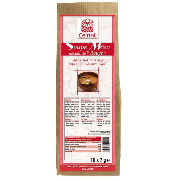 Celnat Soupe Miso instantanée rouge - Boite 10 sachets (70g)