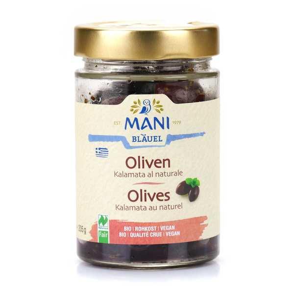 Mani Blauel Olives de Kalamata grecques au naturel bio - Pot 205g