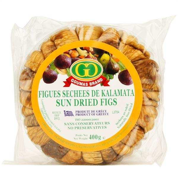 Goumas Brand Figues séchées au soleil grecques - en couronne - Lot de 3 boites de 400g