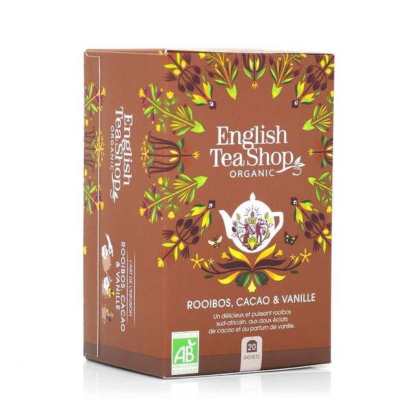 English Tea Shop Thé rooibos chocolat et vanille bio en sachets - 3 boites de 20 sachets