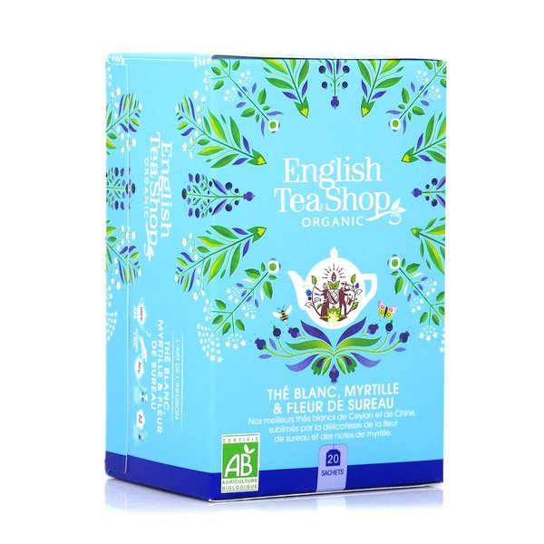 English Tea Shop Thé blanc fleur de sureau et myrtille bio en sachets - Boite 20 infusettes