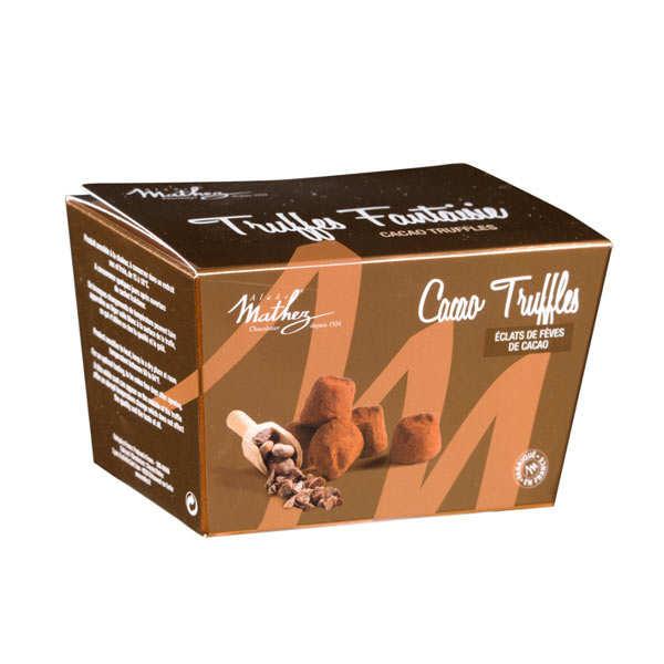 Chocolat Mathez Truffes fantaisie aux éclats de fèves de cacao - Mini ballotin 100g