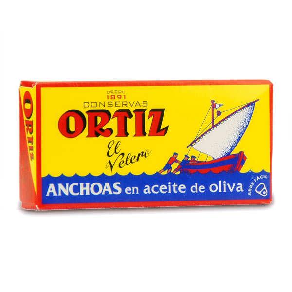 Ortiz Filets d'anchois de Gascogne à l'huile d'olive - 10 boites métal 47g