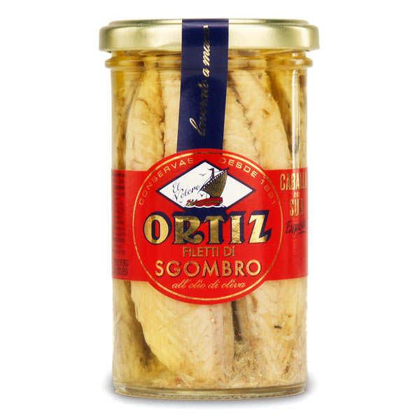 Ortiz Filets de maquereau à l'huile d'olive vierge extra - Bocal verre 250g