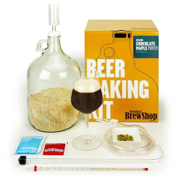 Brooklyn Brew Shop Kit de fabrication bière brune, chocolat, sirop d'érable - 6.8% - Kit complet