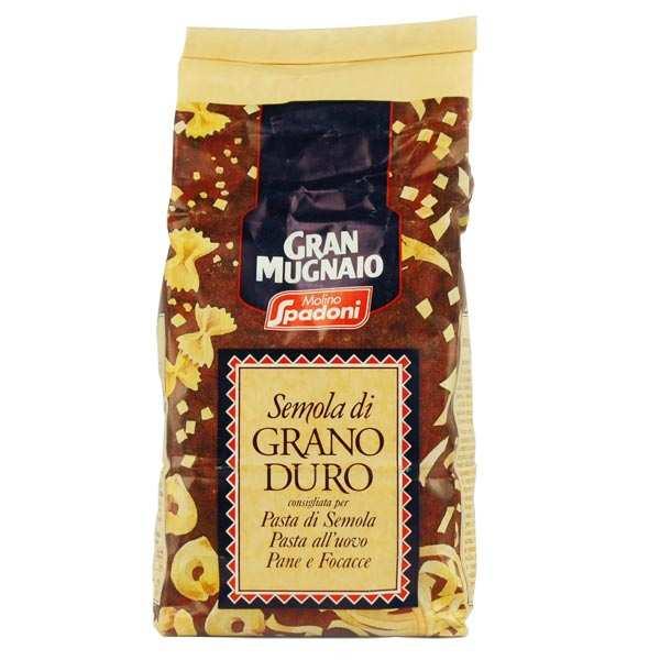 Molino Spadoni Farine de semoule de blé dur italienne - 5 paquets de 1kg