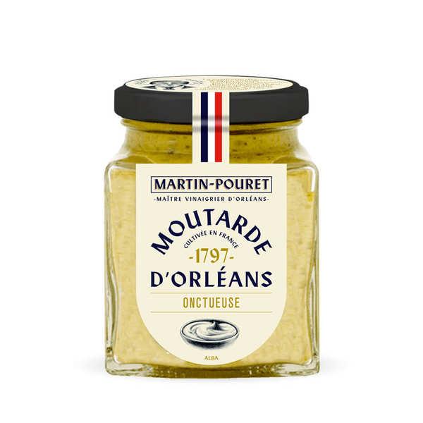 Martin Pouret Moutarde d'Orléans onctueuse aux graines du Val de Loire - Lot de 3 pots 200g