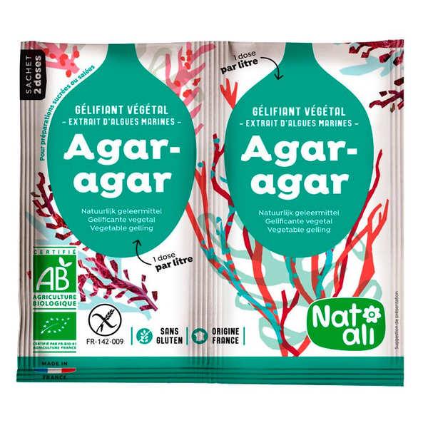 Nat-Ali Agar agar en poudre bio - En sachets - Sachet 2 x 4g (soit 8g)