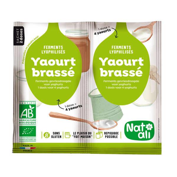 Nat-Ali Ferments lyophilisés bio pour yaourt - 3 paquets de 2 doses de 6g