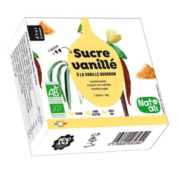 Nat-Ali Sucre vanillé bio - les 8 sachets de 8 g