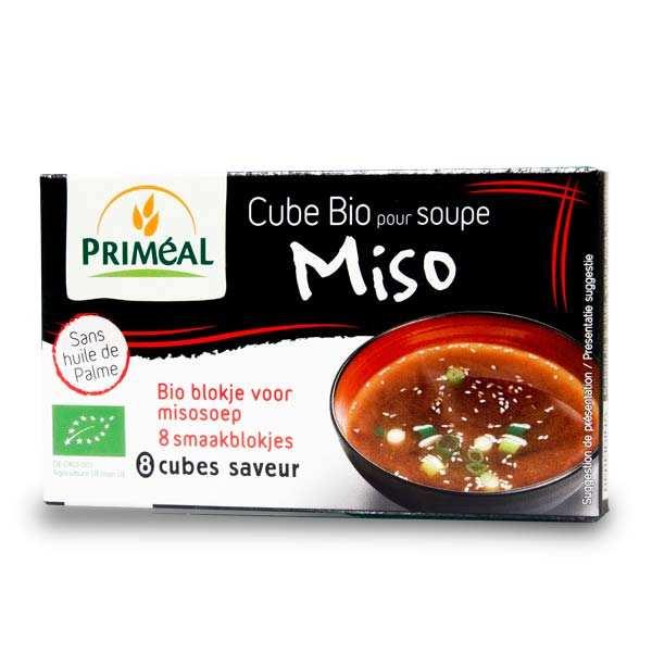 Priméal Soupe miso bio instantanée en cubes - Boite 80g - 8 bouillons