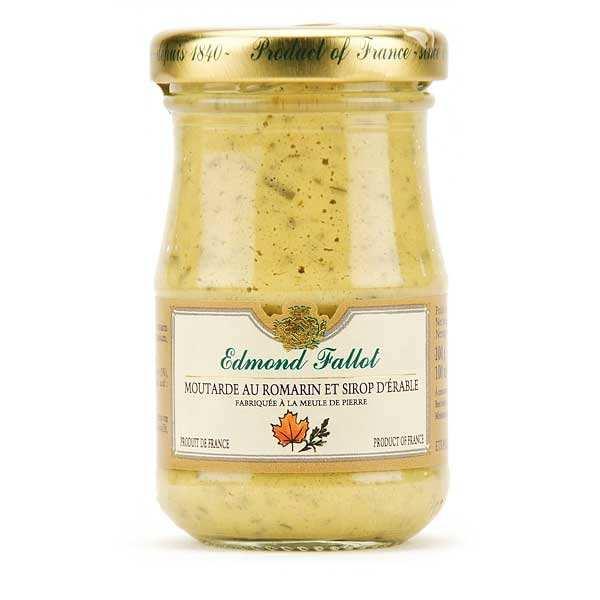 Fallot Moutarde de Dijon au romarin et sirop d'érable - Pot 100g