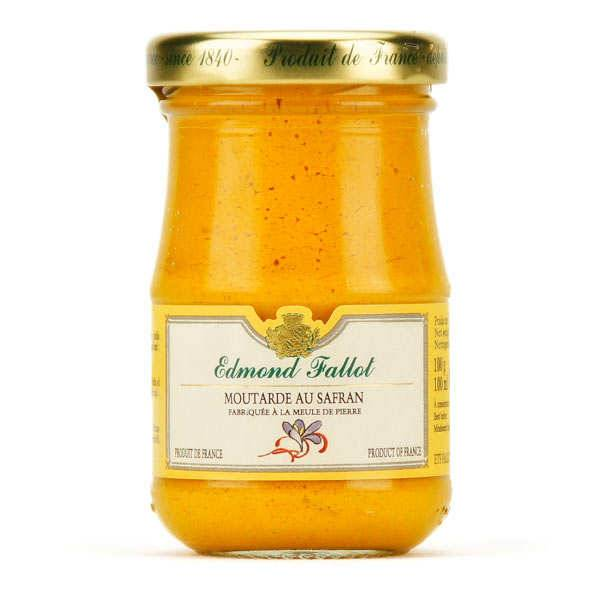 Fallot Moutarde de Dijon au safran - Pot 100g