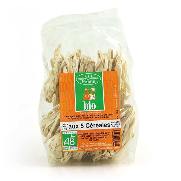 Pâtes Fabre Tagliatelles bio aux cinq céréales - Sachet 250g
