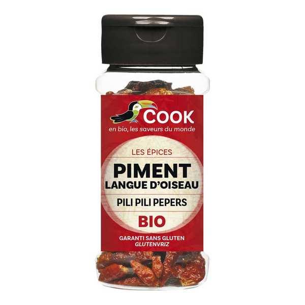 Cook - Herbier de France Piment langues d'oiseaux bio - 3 flacons de 20g
