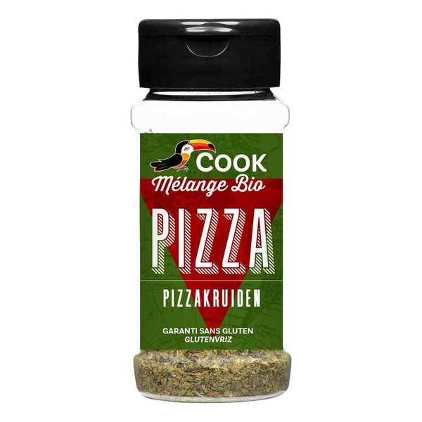 Cook - Herbier de France Mélange d'épices pour pizza bio - 3 flacons de 13g