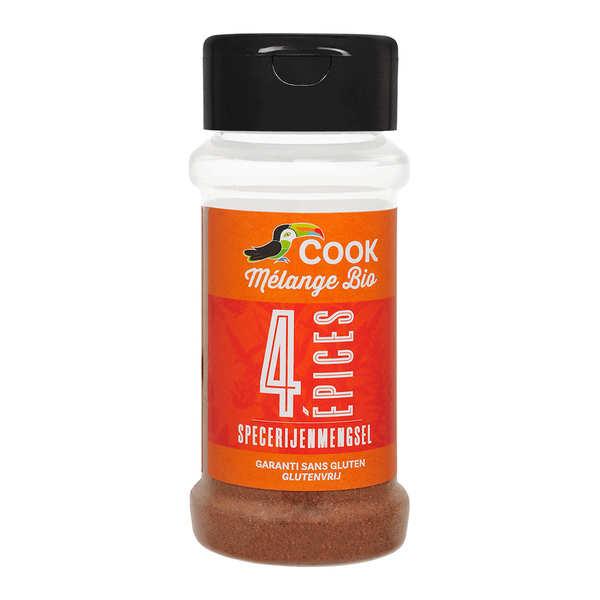 Cook - Herbier de France Mélange quatre épices bio - Flacon35 g