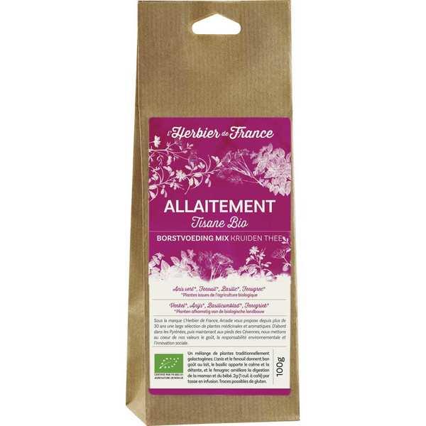 Cook - Herbier de France Infusion mélange allaitement bio - Sachet 100g