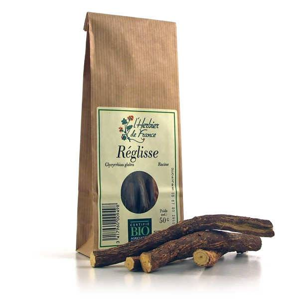 Cook - Herbier de France Racine de réglisse bio en bâtons - 3 sachets de 50g